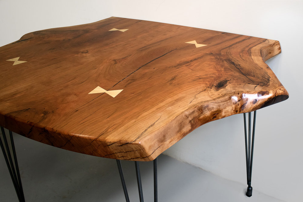 Copy of Live-edge Cherry Slab Table