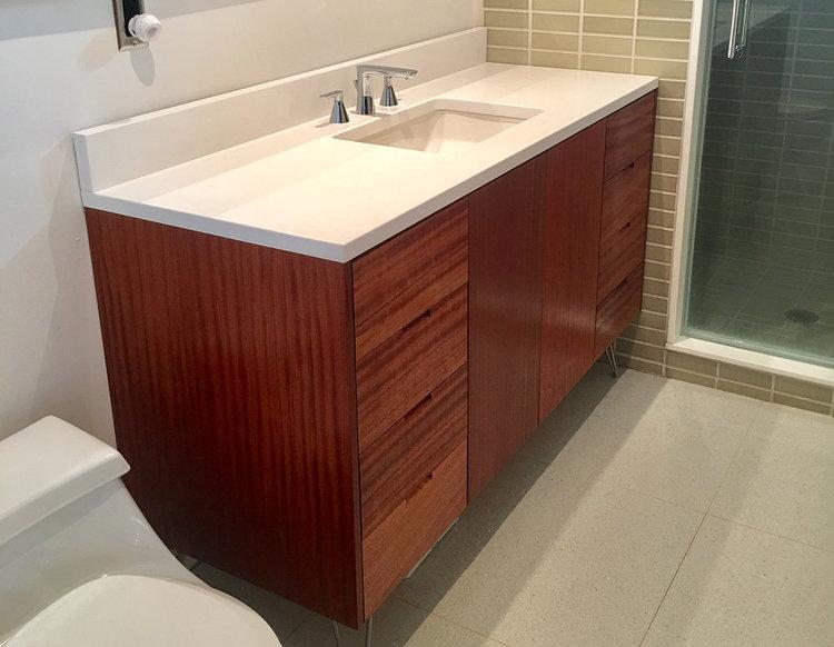 Bathroom Vanity Grain Control Midcentury Modern Custom - Bathroom vanity brooklyn