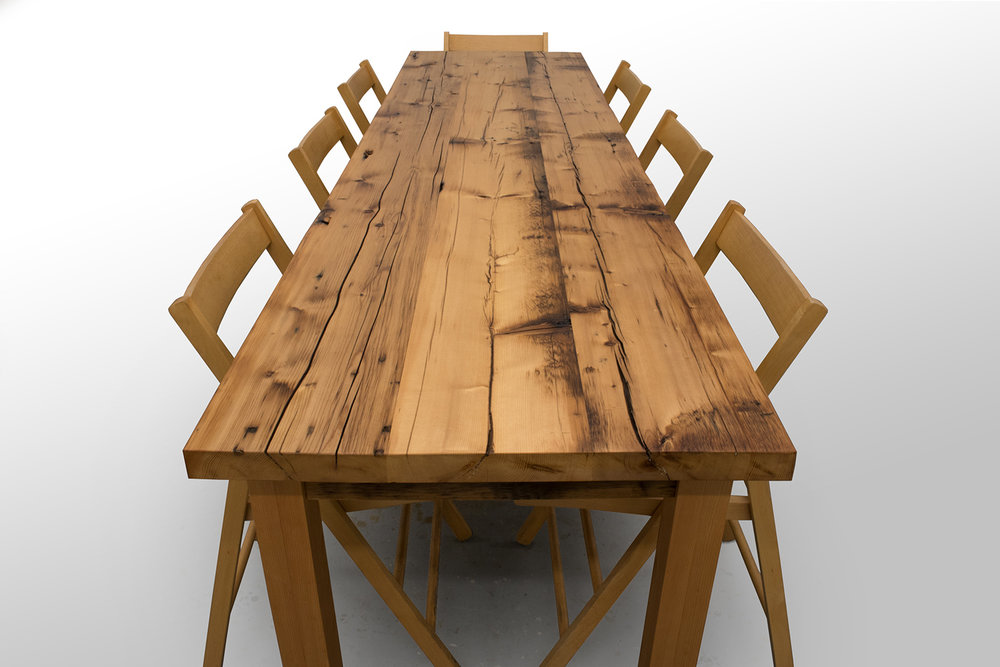 Reclaimed White Pine Dining Table