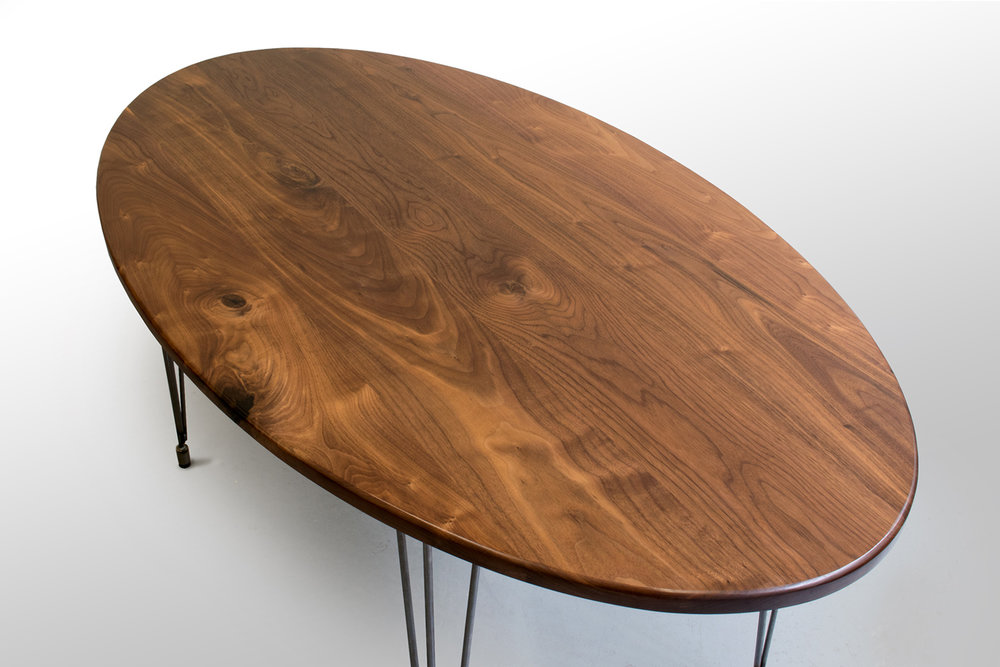 Right closeup Walnut oval kitchen table.jpg