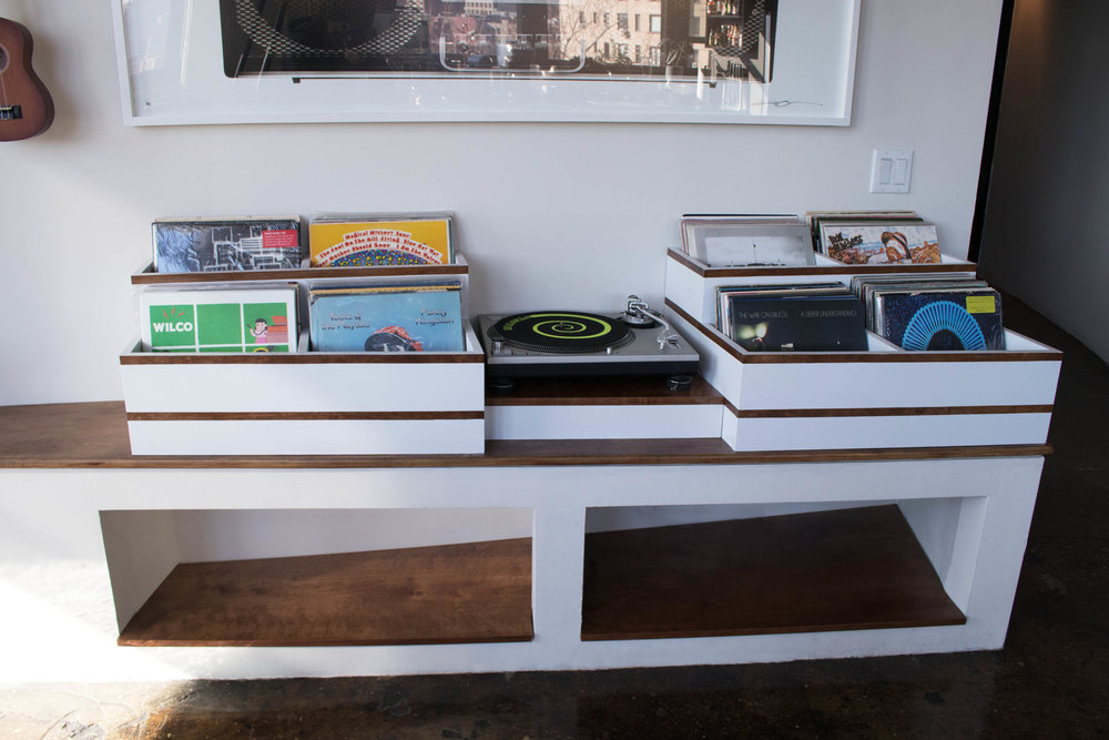 Custom LP and Record player holder