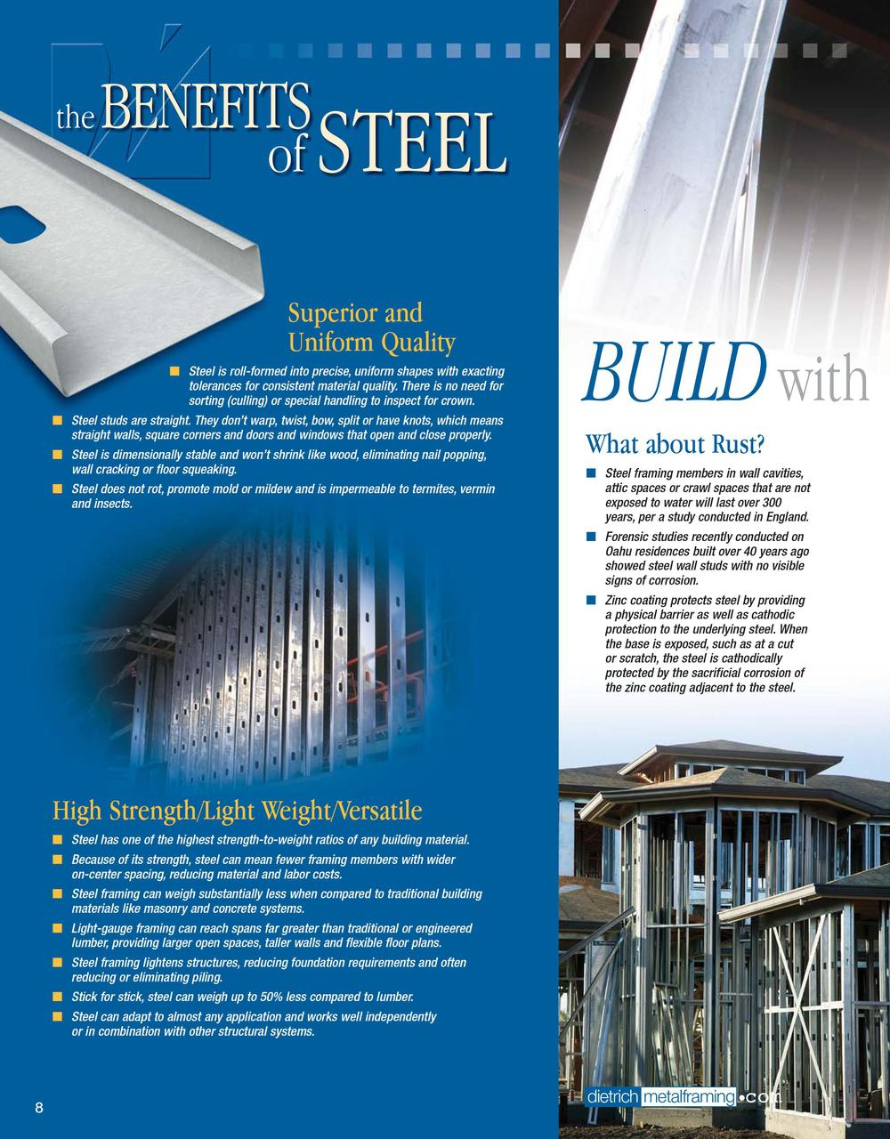 the benefits of steel superior and uniform quality by dietrich metal framing