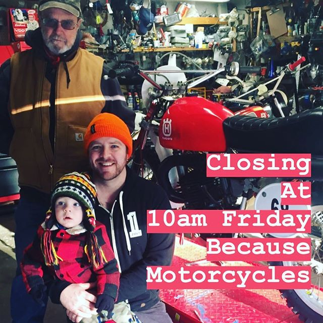 We have a motorcycle in @the1moto Show this year, and will only be open until 10am this Friday..Come by Friday morning and give Journey your ❤️! Come say hi to us Saturday Morning at The One Motorcycle Show, Dill will be making coffee at the @seeseemotorcoffee Motorcycle Coffee Cart! @the1moto #teamdills #dilscoffeestop