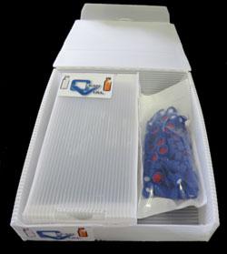 Combi-Kits consist of 100 vials and 100 matching caps.