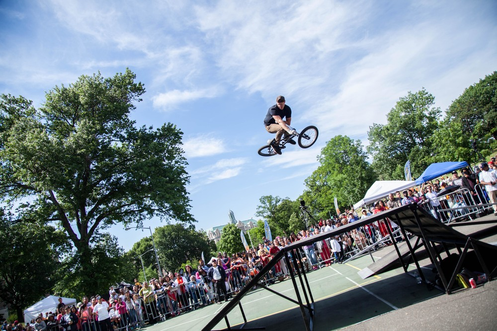 BMX athletes share their talent and testimony in Brooklyn.