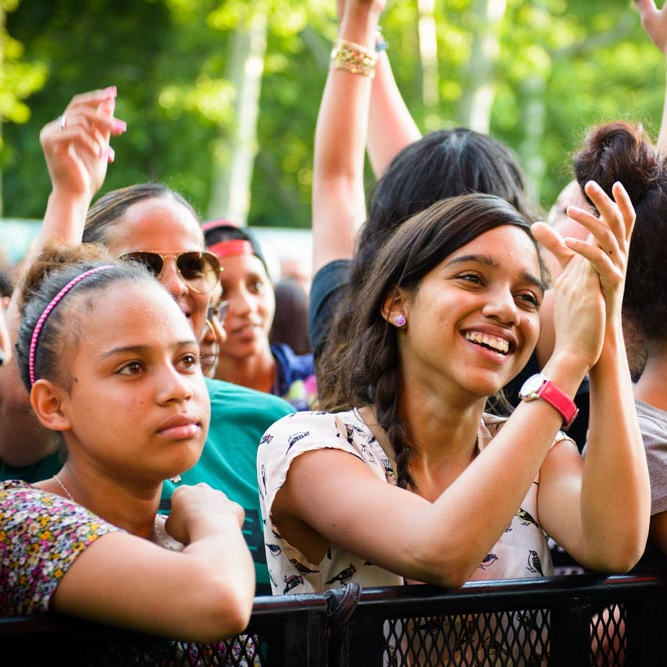 Young and old alike enjoy NY CityFest in Harlem.
