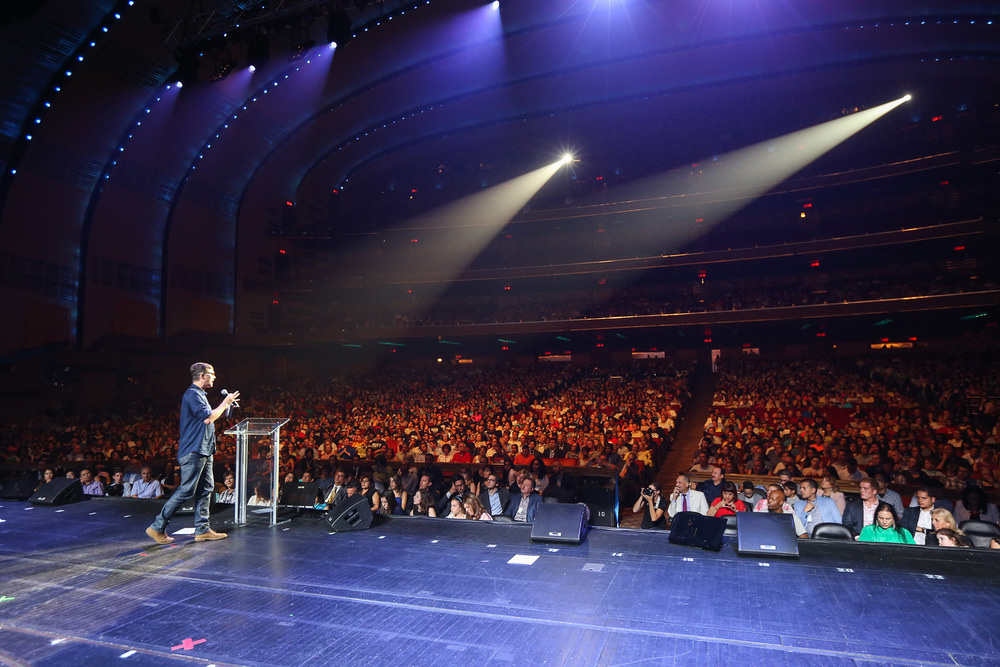Andrew Palau shares his testimony in Radio City Music Hall.