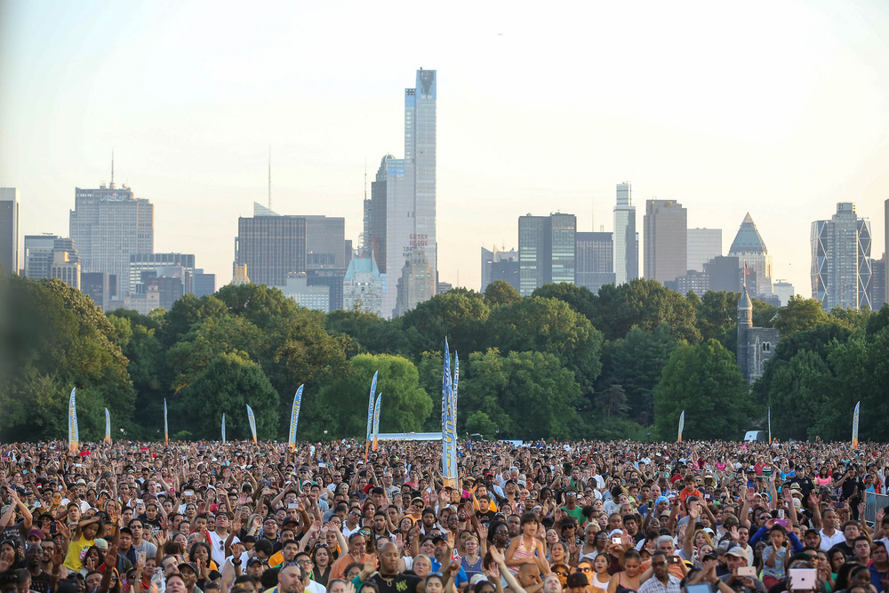 The crowd at Central Park.  Thousands more watched via live streaming and international broadcasts.