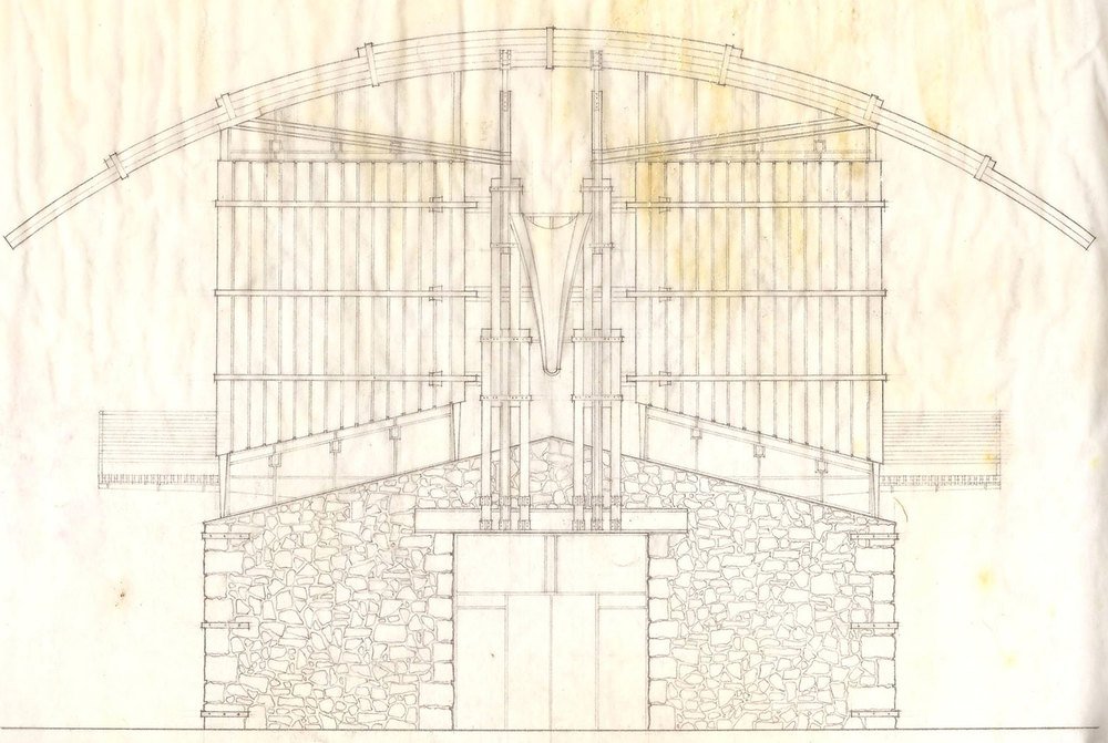East Elevation Line Drawing