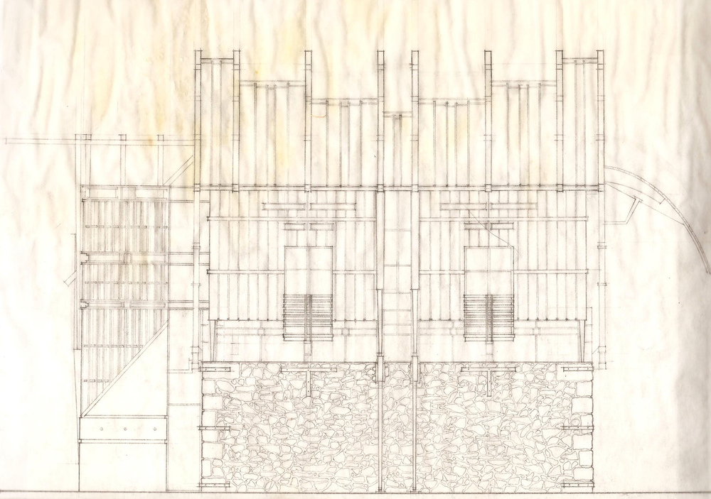 South Elevation Line Drawing