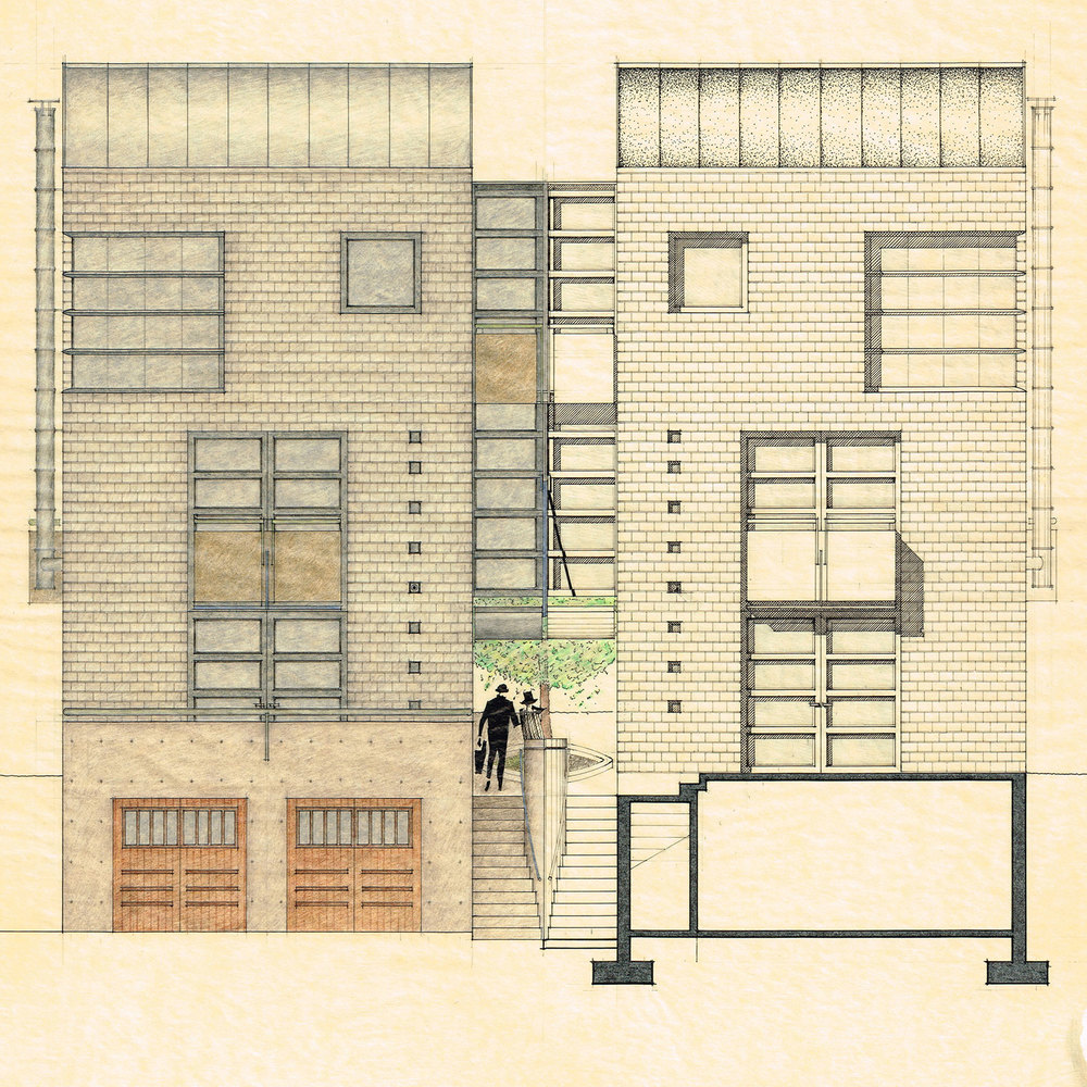 West Elevation Concept Sketch