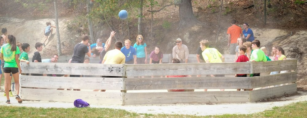 Ga-ga ball is a tradition at Ridge Haven and one the whole family can enjoy!