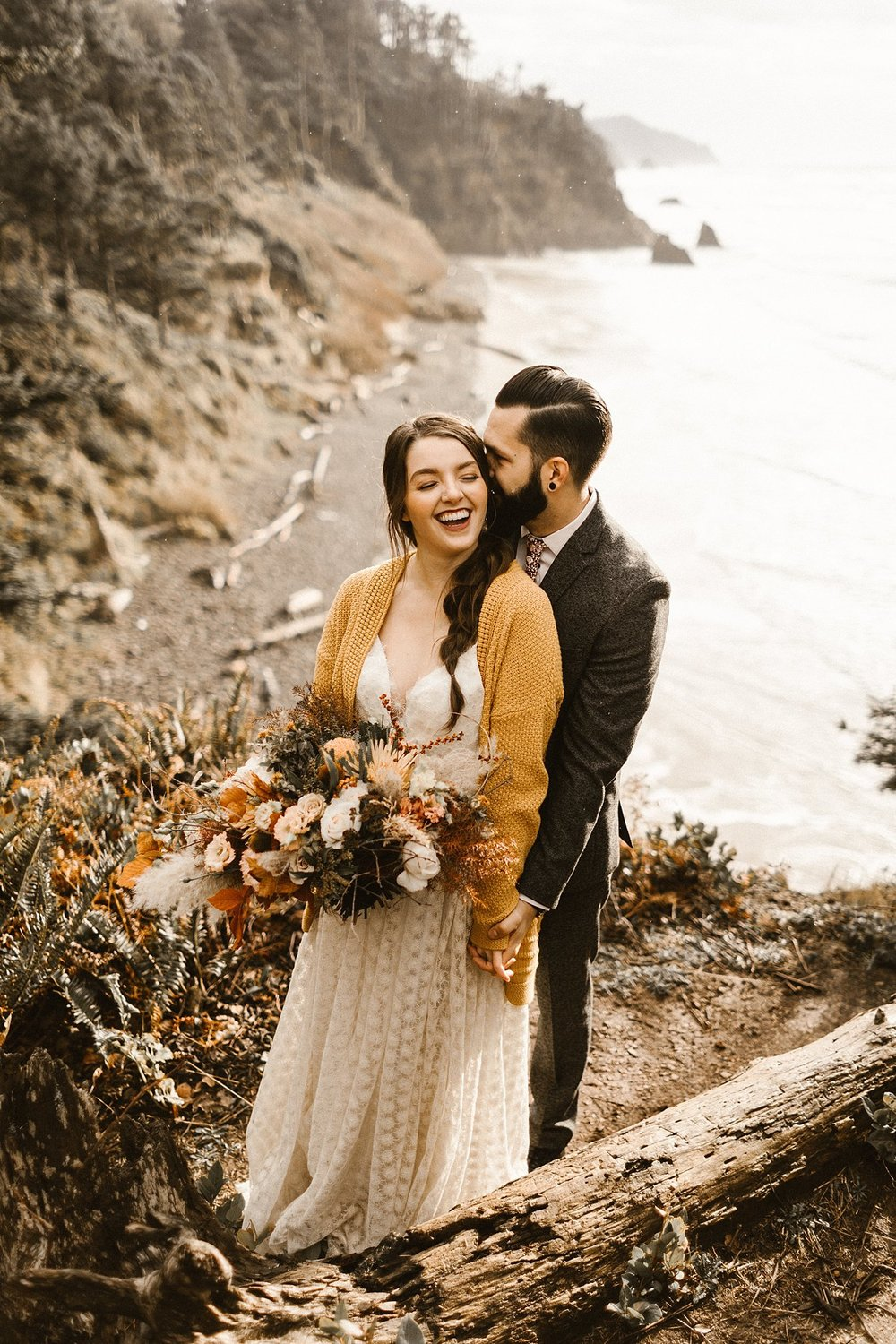 Hug Point Oregon Elopement Photography
