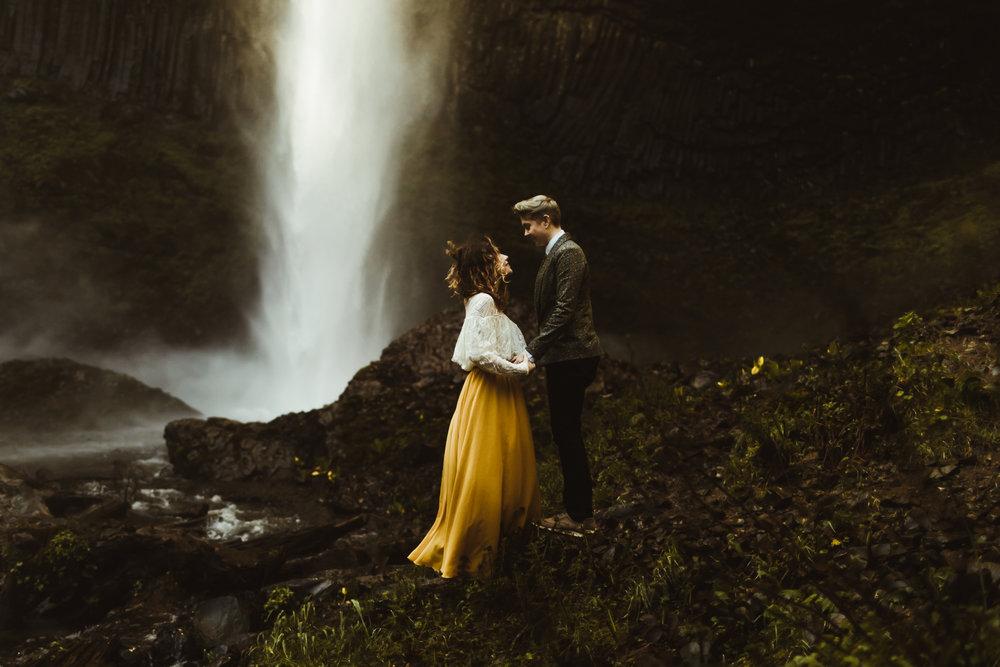 Devin & Jess // Latourell Falls Elopement