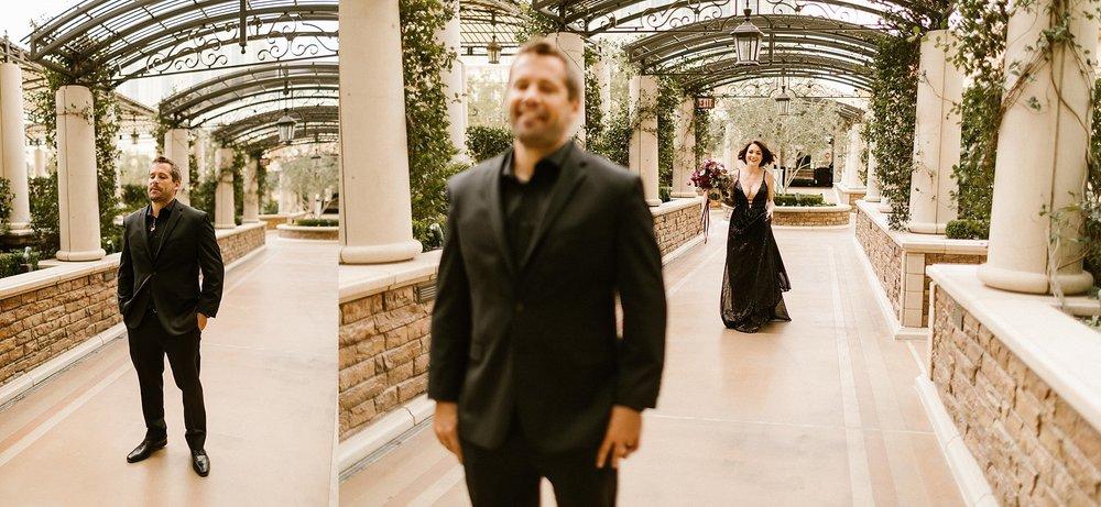 Wedding First Look at the Venetian in Las Vegas