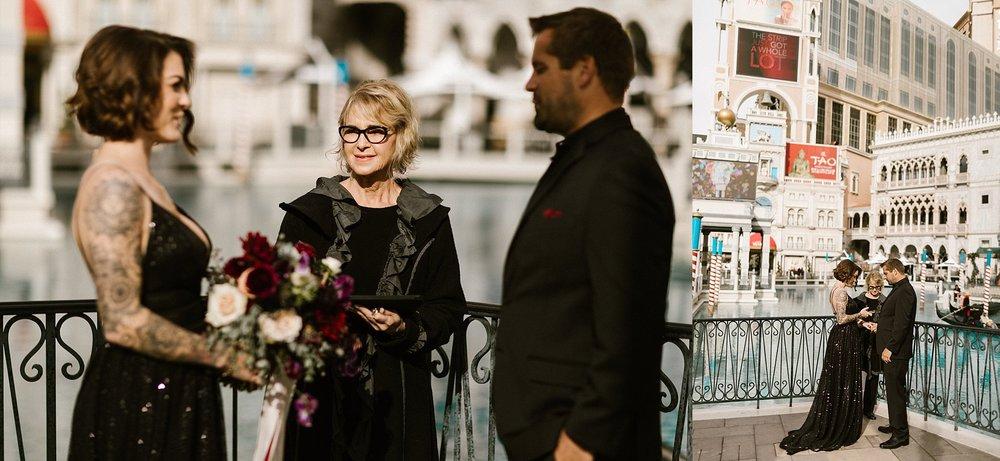 A simple elopement at The Venetian in Las Vegas