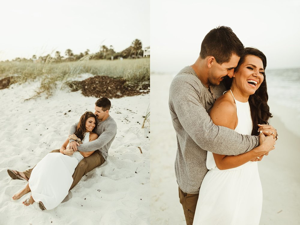 Romantic beach vow renewal in Florida
