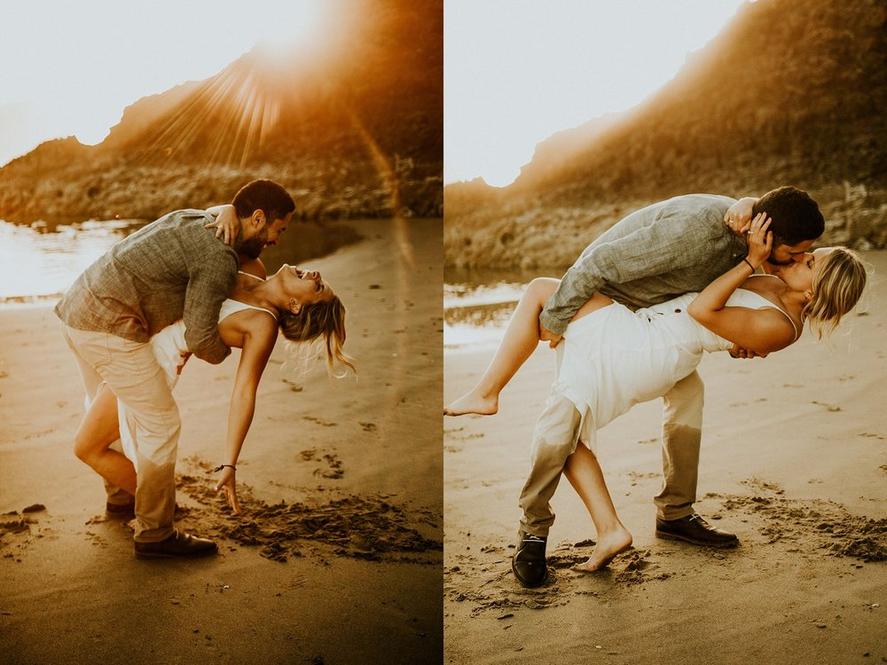 Naba Zabih Photographer photographs and engagement at cannon beach