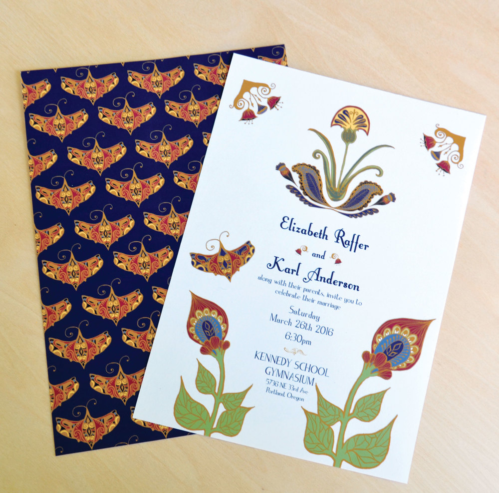 ART NOUVEAU WEDDING INVITATIONS — Alyssa English