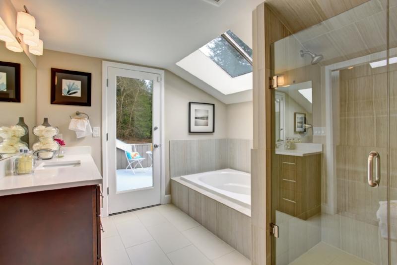 Bathroom Remodel - An existing 5 x 7 foot bathroom gets all new fixtures, porcelain on steel tub, ceramic tile surround, new toilet, vanity sink, ceramic tile floor and medicine cabinet.Average Cost:     $22,310Return:         $13,385ROI:           60%Source: 2017 Cost vs Value
