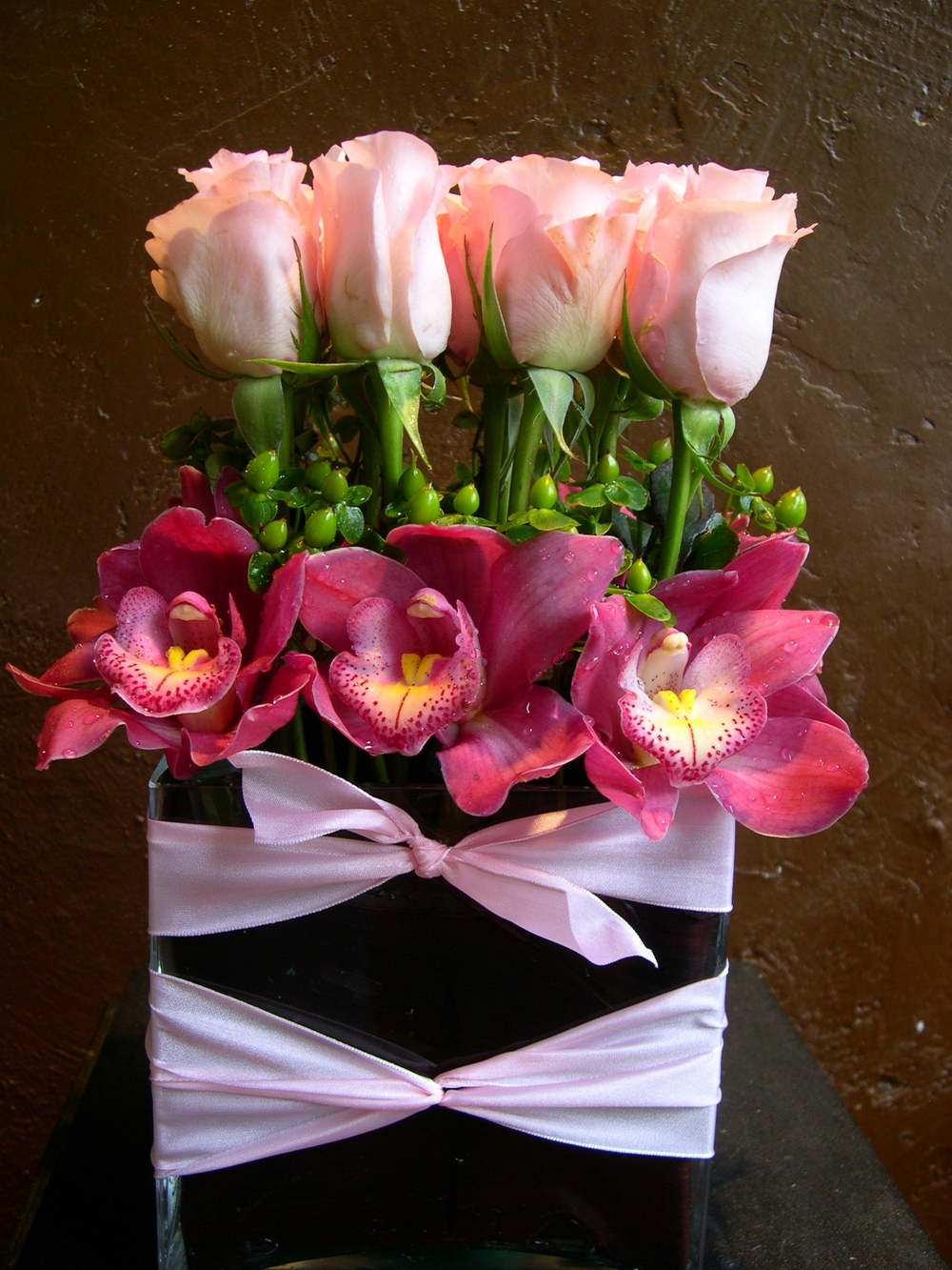 Pink Roses & Orchids