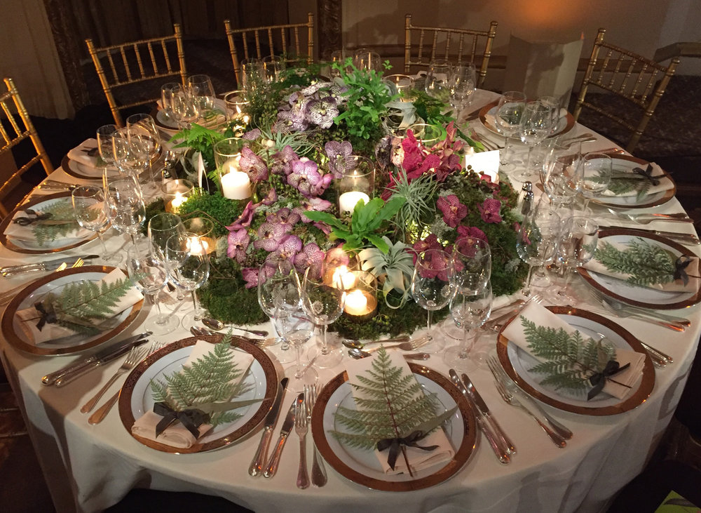 New-York Botanical Garden Orchid Dinner.