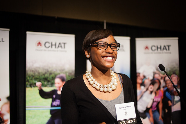 Ashawrie White at CHAT's Spring Banquet 2016