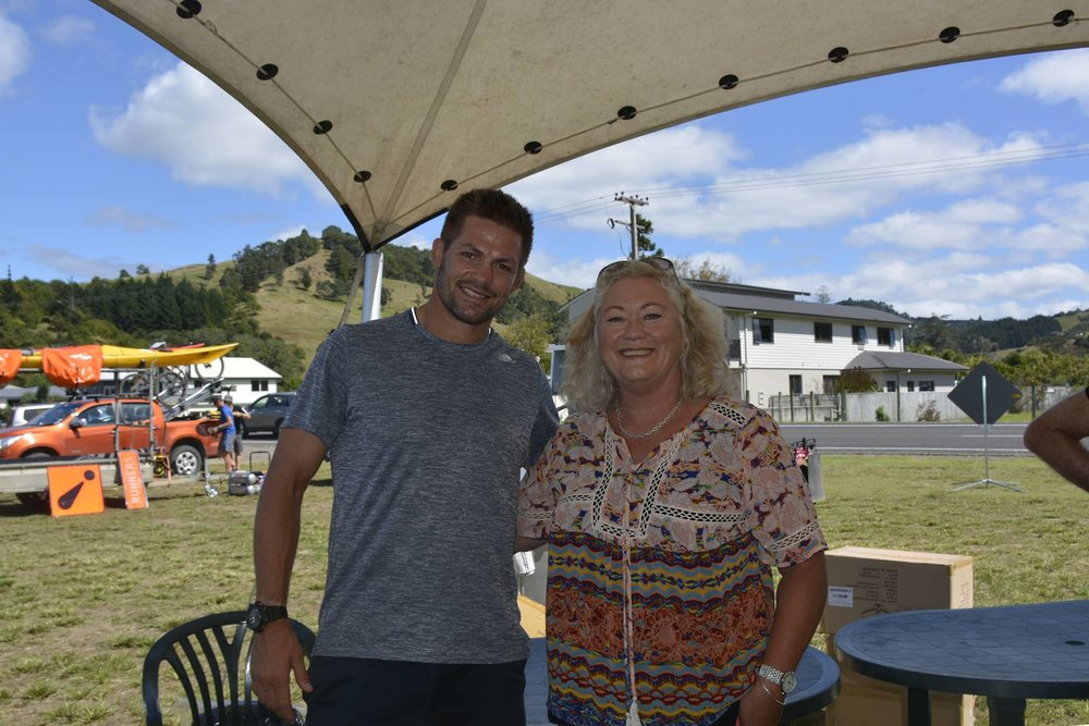 Rita with Sir Richie McCaw who recently competed in the ARC 24hr Adventure Race