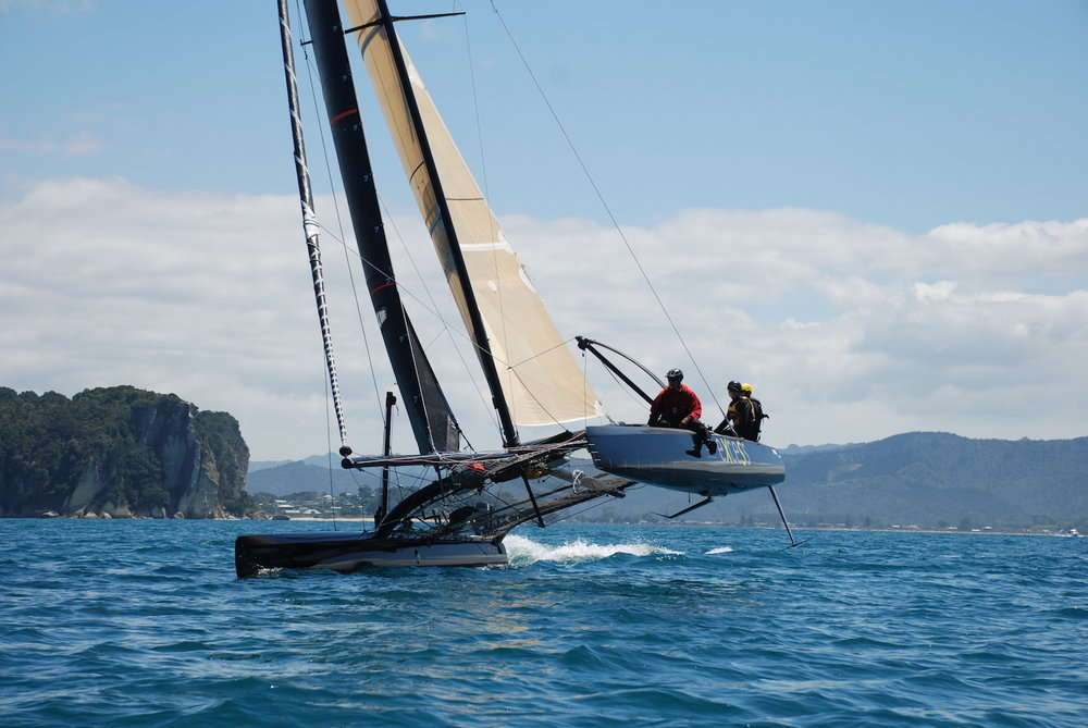 "Boom Sailing - The Coromandel's best on the water experience for all water lovers! Choose from a chilled out 'jump on' cruisy sailing trip on ""Fully Charged"" with a few wines and local craft beers, or the more adrenaline based experience of sailing an America's Cup foiling catamaran ""Excess"" Check out BOOM"