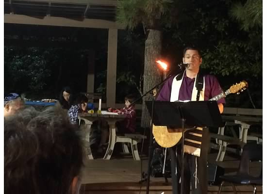 Kabbalat Shabbat under the stars