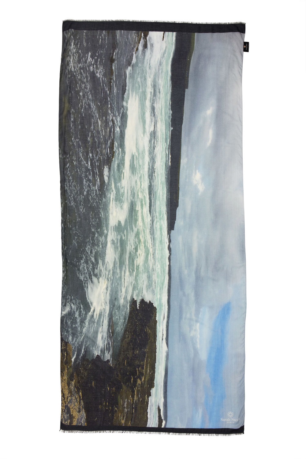 Kilkee - Kilkee Collcetion is inspired by the West Coast of Clare, Ireland. The hidden gem of rock pools of water known as the pollock holes, Kilkee. Also the beautiful Atlantic Ocean and rugged Doonbeg Doughmore beach.