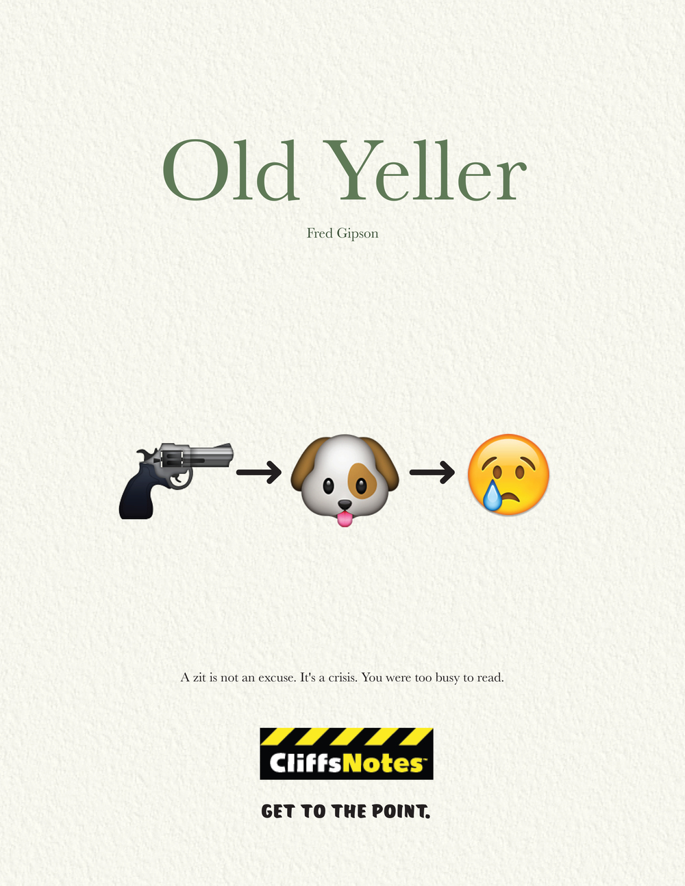old yeller cliff notes