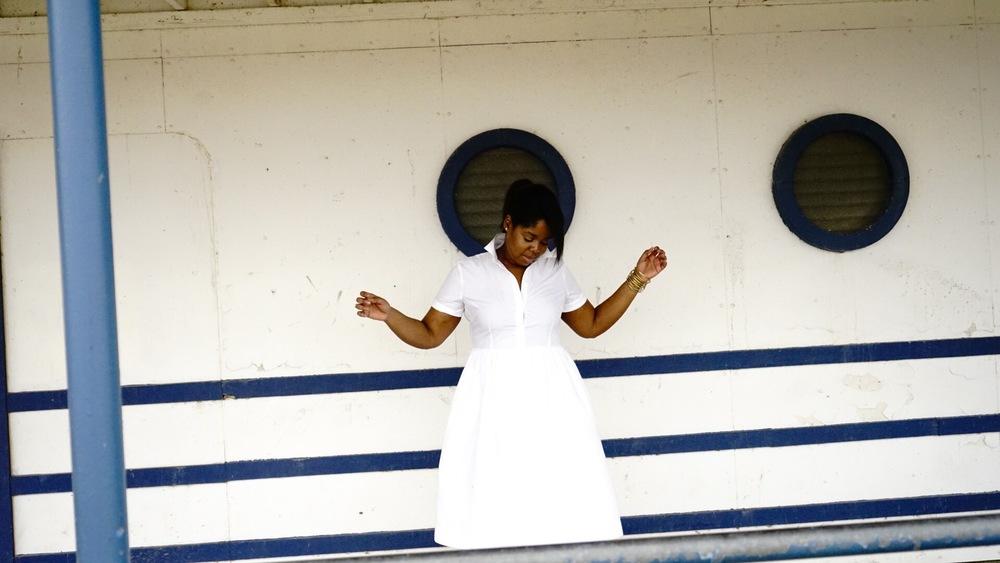 Jcrew Stella Printed Pumps Loft White Shirt Dress 3.JPG