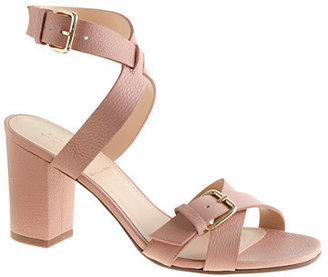 Jcrew Buckled Mid-Heel Sandals That Hayet Rida.jpg
