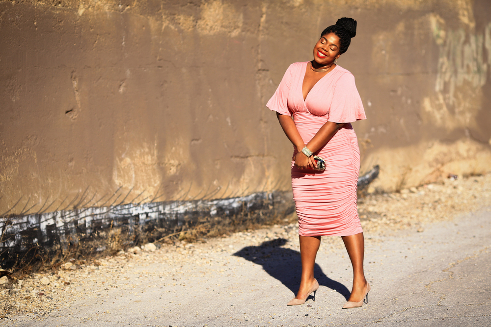 Hayet Rida Kiyonna Rose Quartz Dress Collections By Joya Adornaddict Lips by Danilea Chicago Blogger Plus Size 3.jpg