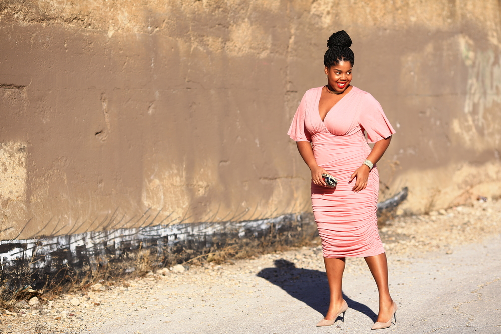 Hayet Rida Kiyonna Rose Quartz Dress Collections By Joya Adornaddict Lips by Danilea Chicago Blogger Plus Size 9.JPG