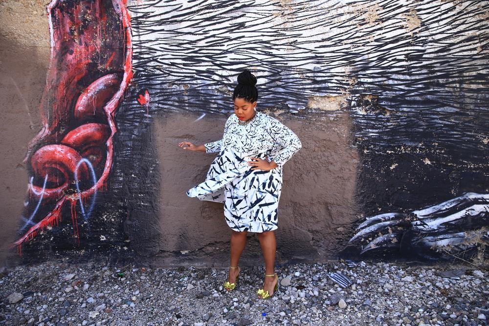 That Hayet Rida Asos White Printed Ovoid Wrap Dress Blogger As Seen On Me 6.JPG