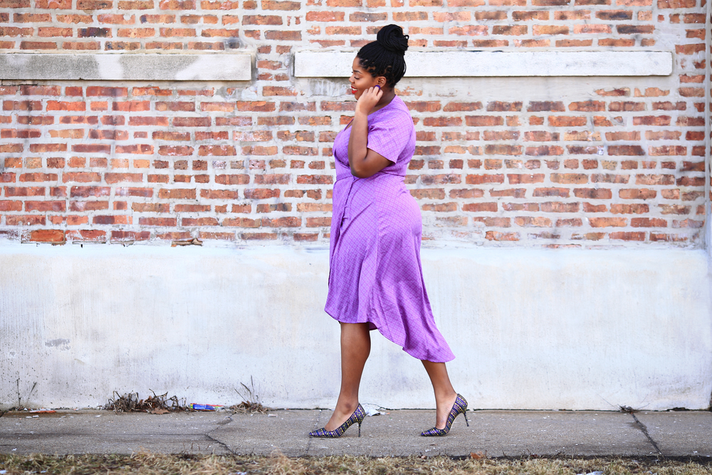 Hayet Rida Plus Size Style Twelve North Purple Dress Jcrew Shoes 3.jpg