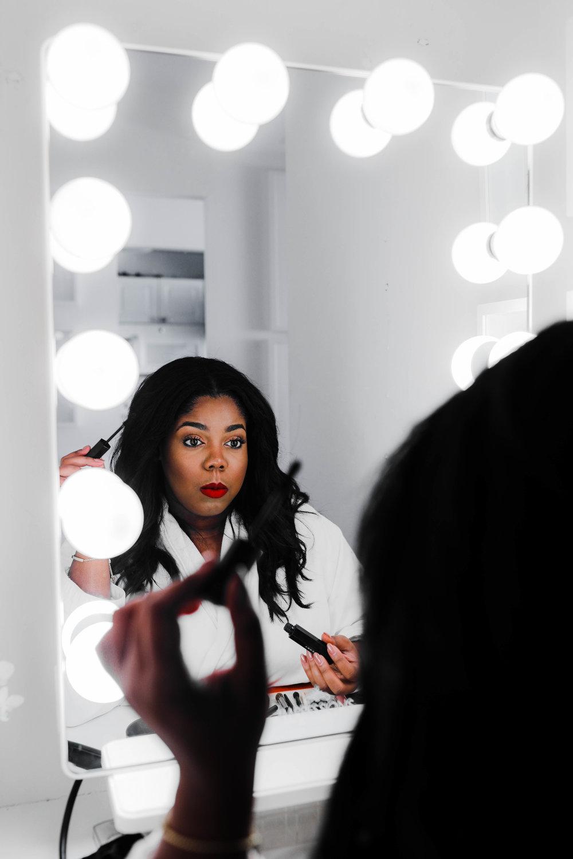 Hayet Rida Chicago Beauty Blogger Impressions Vanity Mirror Melanin Beauty Makeup Dark skin 2.jpg