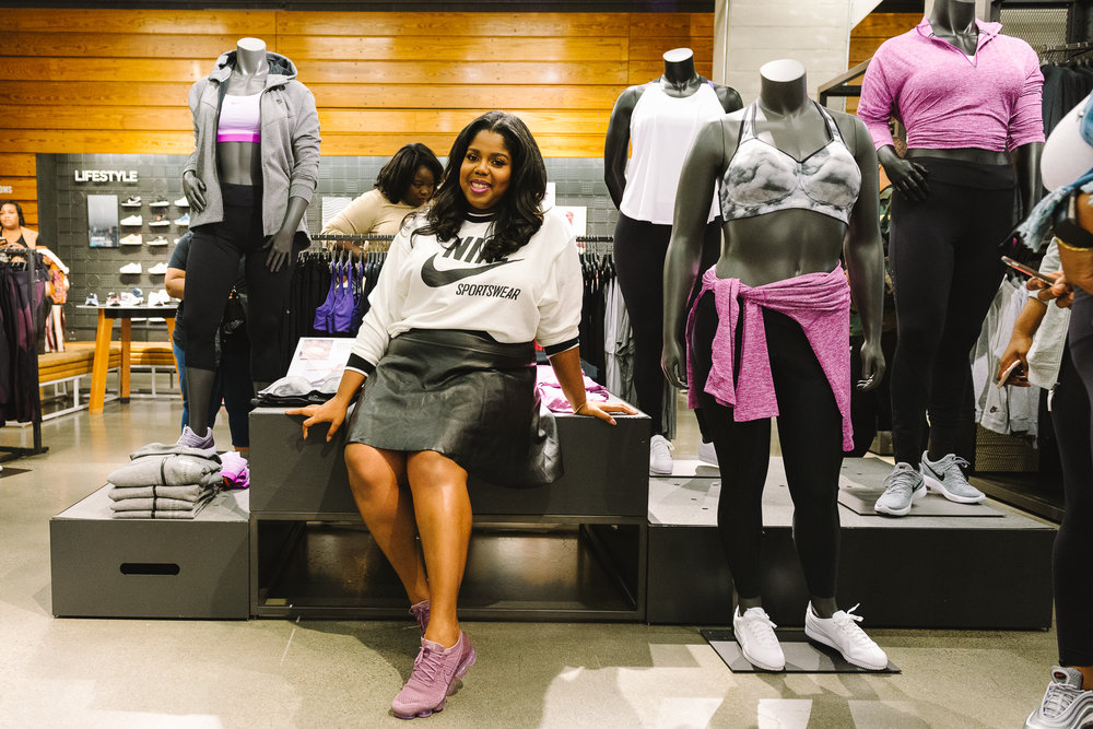 detailing 87767 b769a Hayet Rida Chicago Nike Plus Size Line Event Fashion Lifestyle Blogger Nike  Air Society Vapor Max