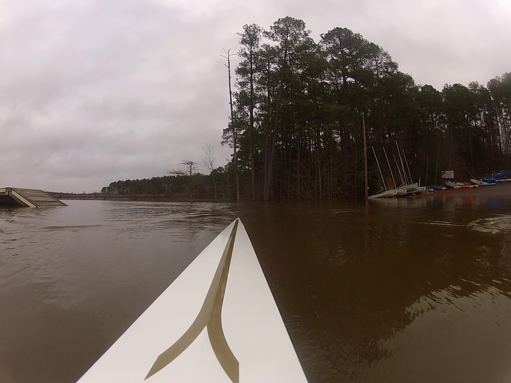 Today, this would be rowing in 21 feet of air