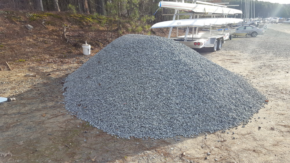 7.5 tons of gravel