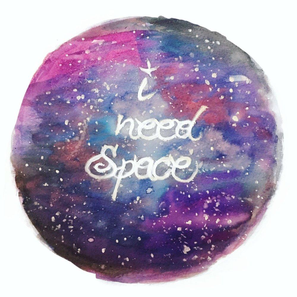 """I need Space""//Acrylics & Watercolor"