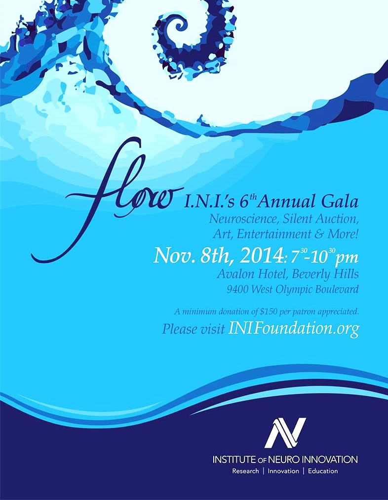 Speaker: at the 2014 Institute of Neuro Innovation's Gala.