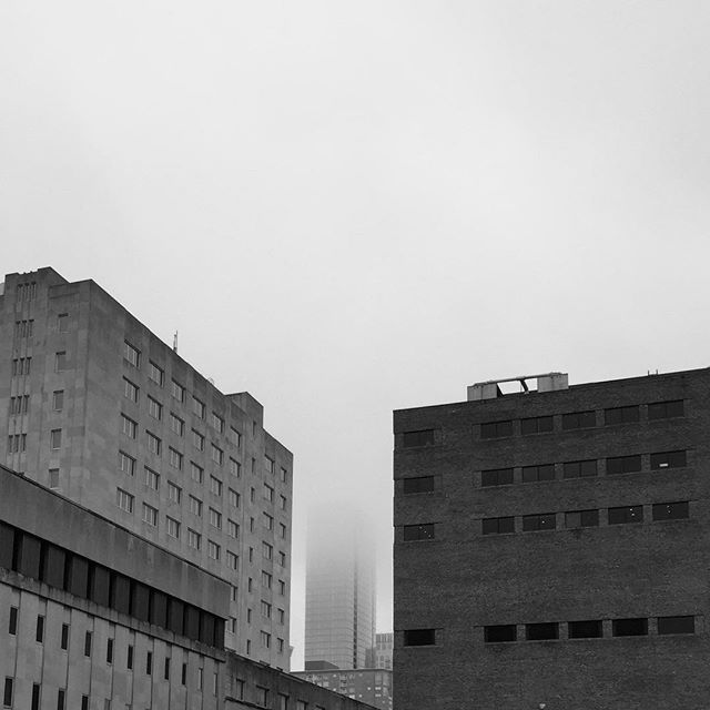 I'm no photographer by any means but I thought it was really cool how the two buildings in the forefront were so sharp and clear and the building in the back faded into obscurity. So yeah... Here you go I guess.