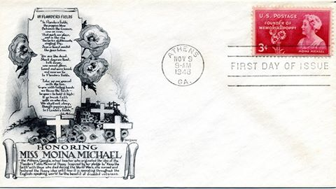 "Notice that this one has no address, so it never traveled through the mail on its own. This envelope was printed by, and cancelled for, a stamp dealer.   Here's how first day of issue covers work: The date the stamp will be issued and the post office it will be issued from are announced months in advance, Stamp collector publications carry the announcements, and news outlets local to the post office of origin usually also make a big deal of it.   Prior to the date of issue, collectors send self-addressed envelopes and the cost of postage to the postmaster at the issuing post office. The collectors can use their own blank envelopes, commemorative envelopes purchased from a dealer, and sometimes envelopes they've decorated themselves.   Dealers who specialize in stamp collectors often create and print their own commemorative envelopes. Some are sold in advance for collectors to send-in and use. Others are sent in bulk to the issuing post office, with a check for all the postage for the envelopes and shipping the stamps back. Those received in bulk are stamped, cancelled, and shipped back to the dealer in a box (which the dealer pays extra postage for, but it reduces wear and tear on the envelopes). Dealers then sell the unaddressed but cancelled envelopes to the collectors. The post office stamps and cancels all envelopes received in advance, but does not release them until the post office opens on the day of issue. That's why nearly all the envelopes in this series will be postmarked at 9:00 a.m. The post office received them in advance, and prepared them for release on the issue date. If an envelope was received on the day of issue for first day cancellation, it would be postmarked with a later time that day.   Only the commemorative stamp and the first day cancellation are prepared by the post office. The various cachets (envelopes) are printed by private dealers or decorated, if at all, by individual collectors. None are ""official."" The next post in this series will go into why dealers create so many different commemorative cachets, and why some individual dealers create many different variations of their cachets."
