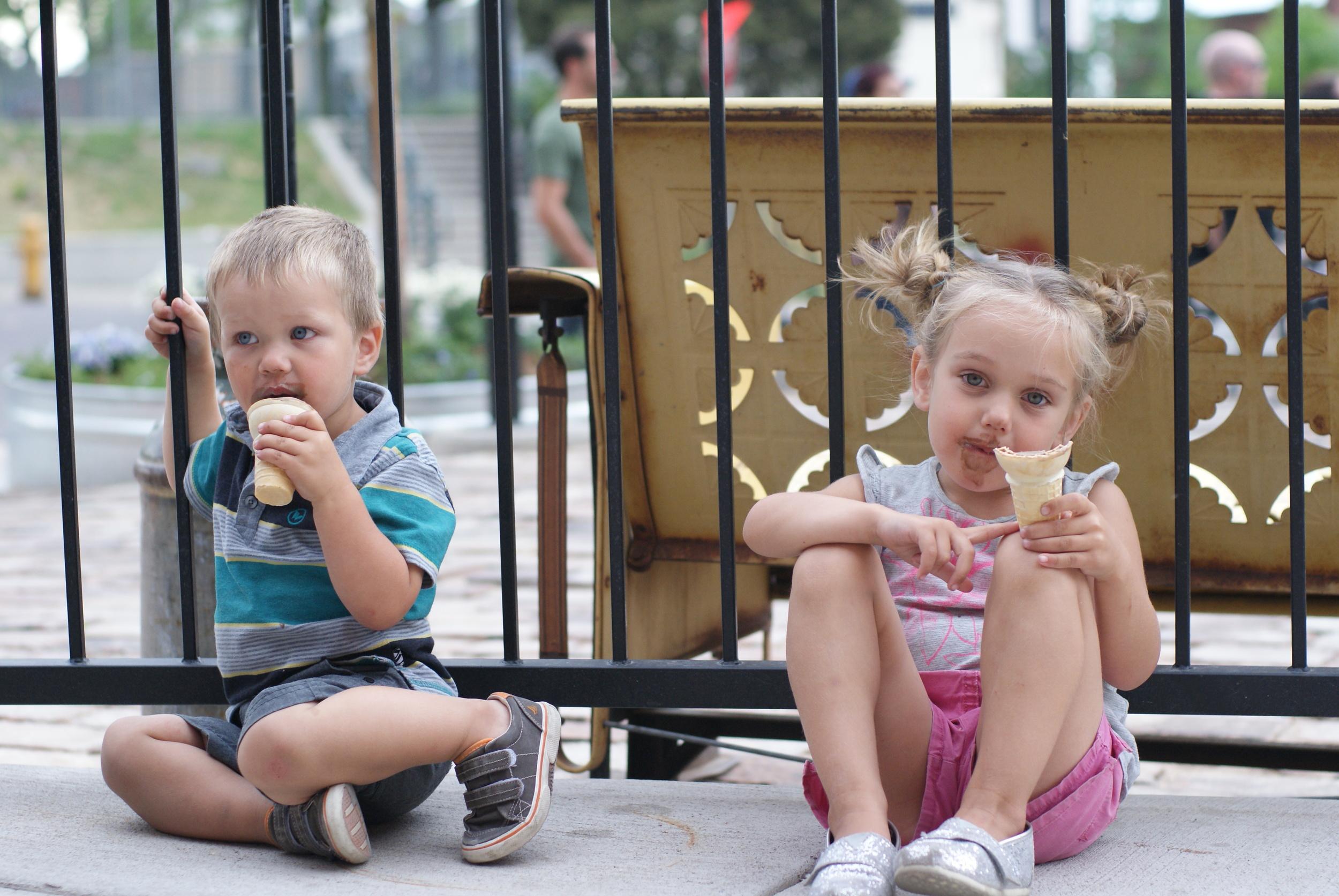 Evidence of the ice cream.