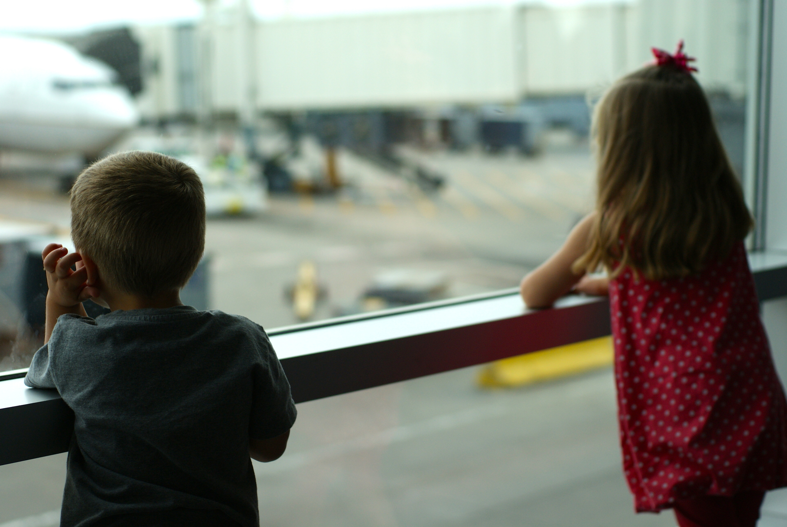 Watching the planes.