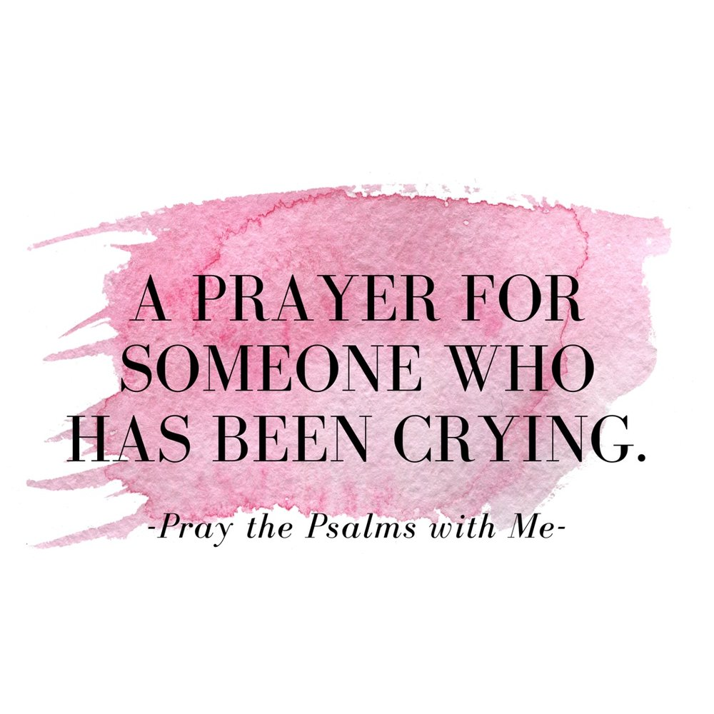 prayer for someone who is crying