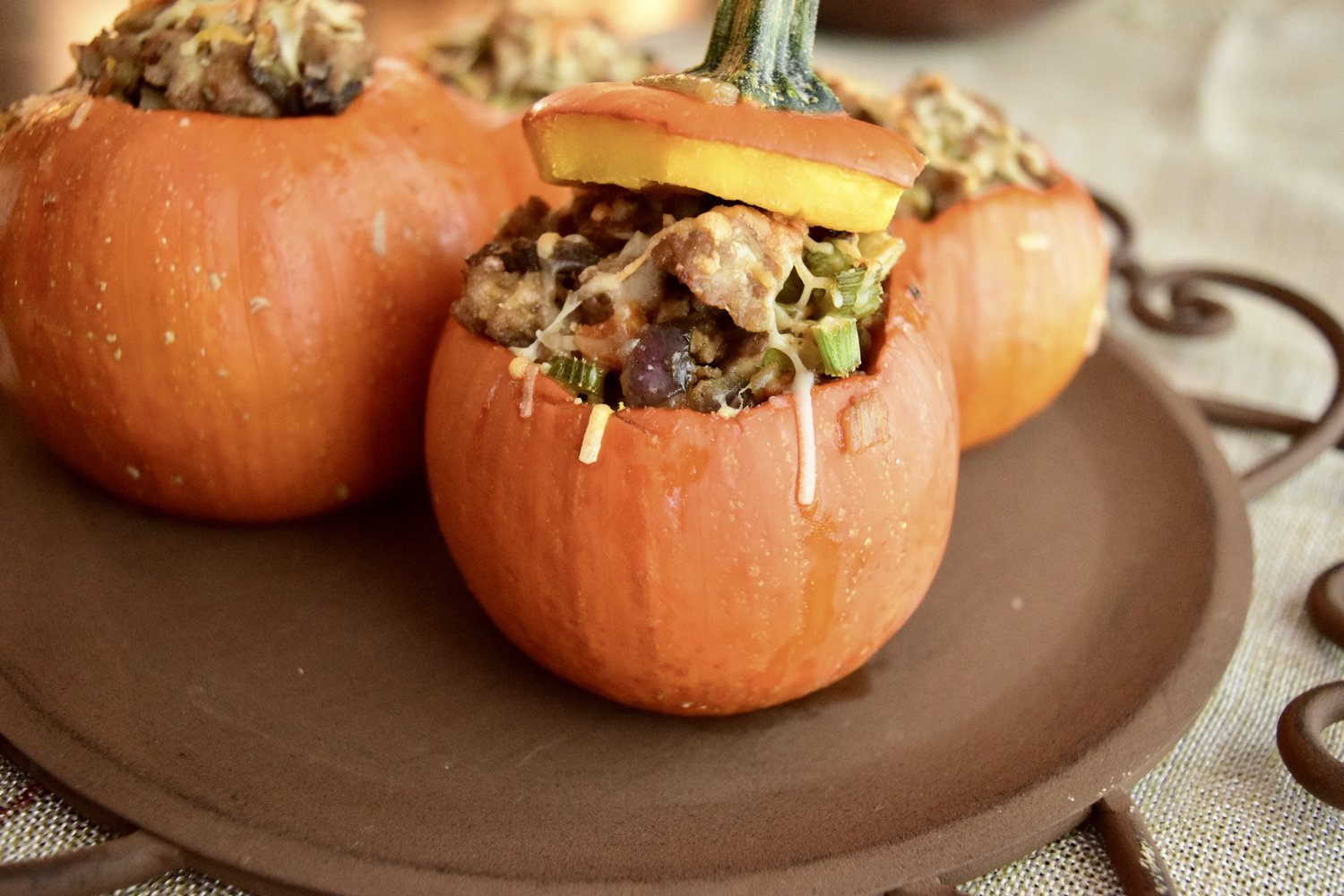 Savory Stuffed Pumpkins